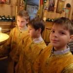 наши алтарнички - Аркадий, Тихон, Даниил.